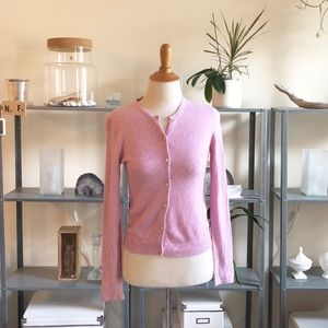 J.Crew 100% Wool Pretty in Pink Cardigan